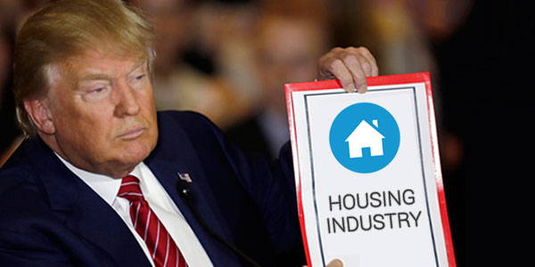 How will the housing industry be affected by Donald Trump's victory?